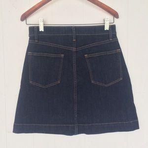 GAP Skirts - GAP Front Button Down Dark Wash Denim Mini Skirt